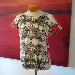 Parker embroidered side open back top